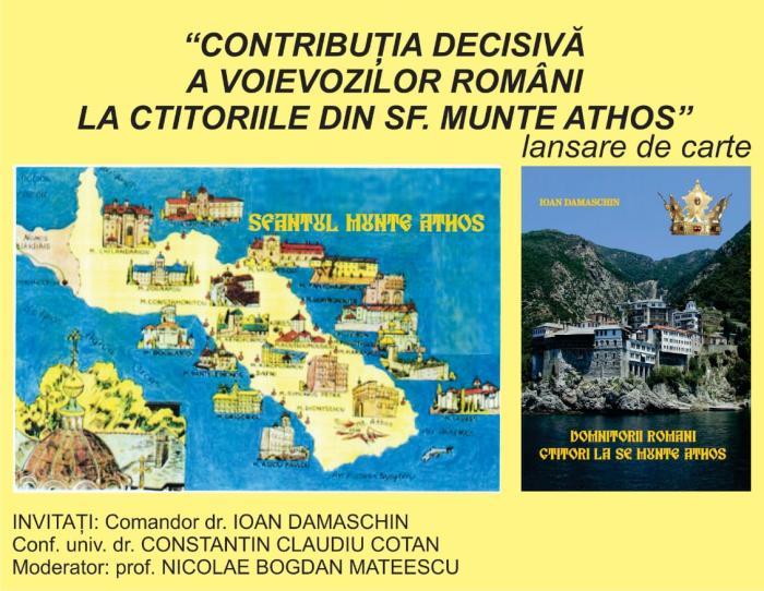 Lansare de carte despre Voievozii Români și ctitoriile din Sfântul Munte Athos