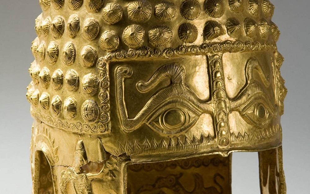 Coiful princiar getic din foaie de aur de la Coţofeneşti