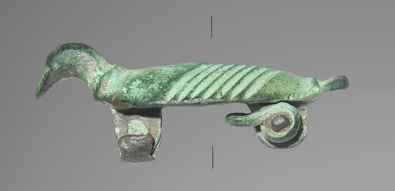 Fibula porumbel de la Dulceanca, romană, celtă, vizigotă?